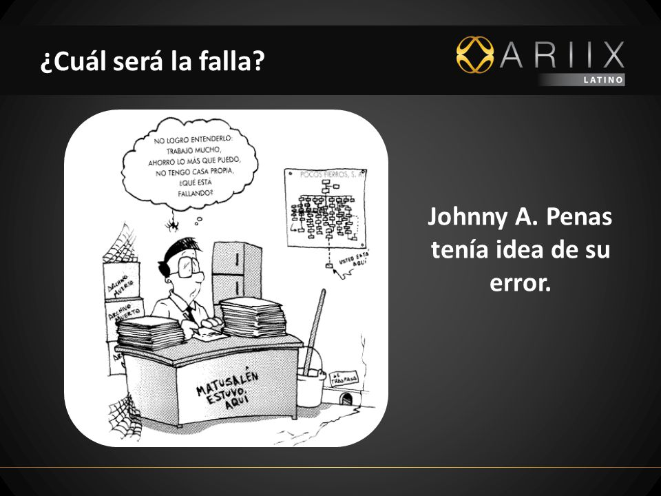 Johnny A. Penas tenía idea de su error.