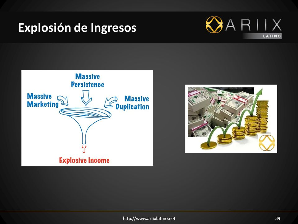 Explosión de Ingresos http://www.ariixlatino.net