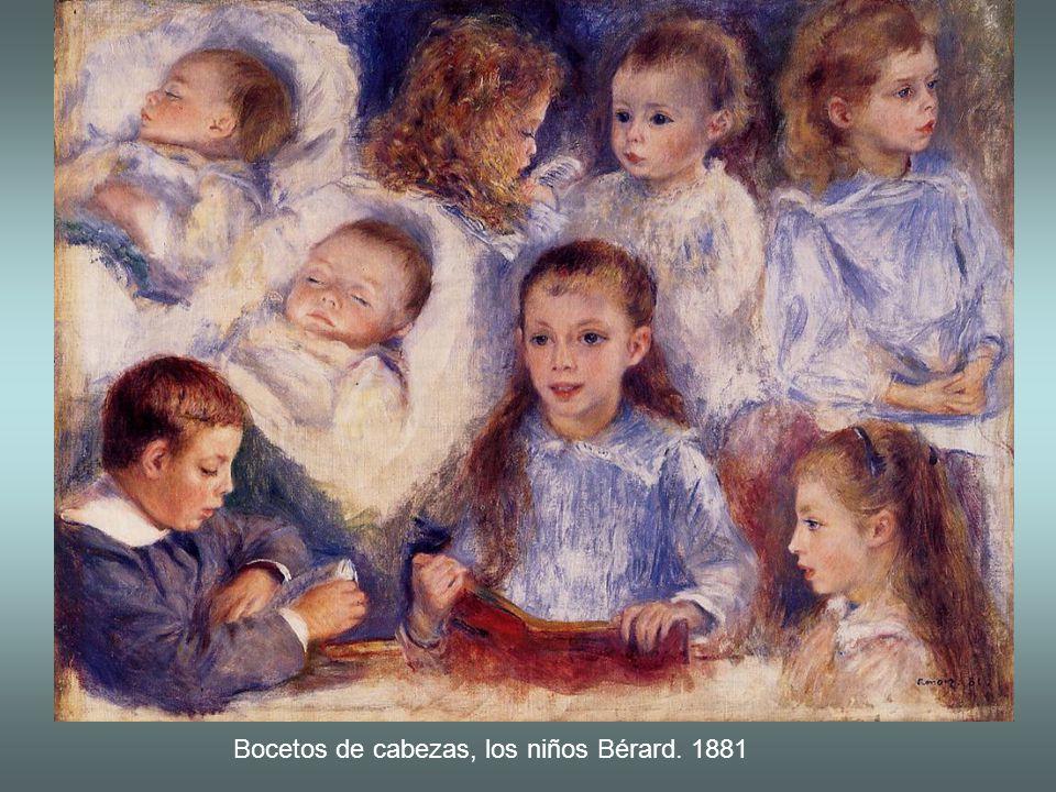 Bocetos de cabezas, los niños Bérard. 1881