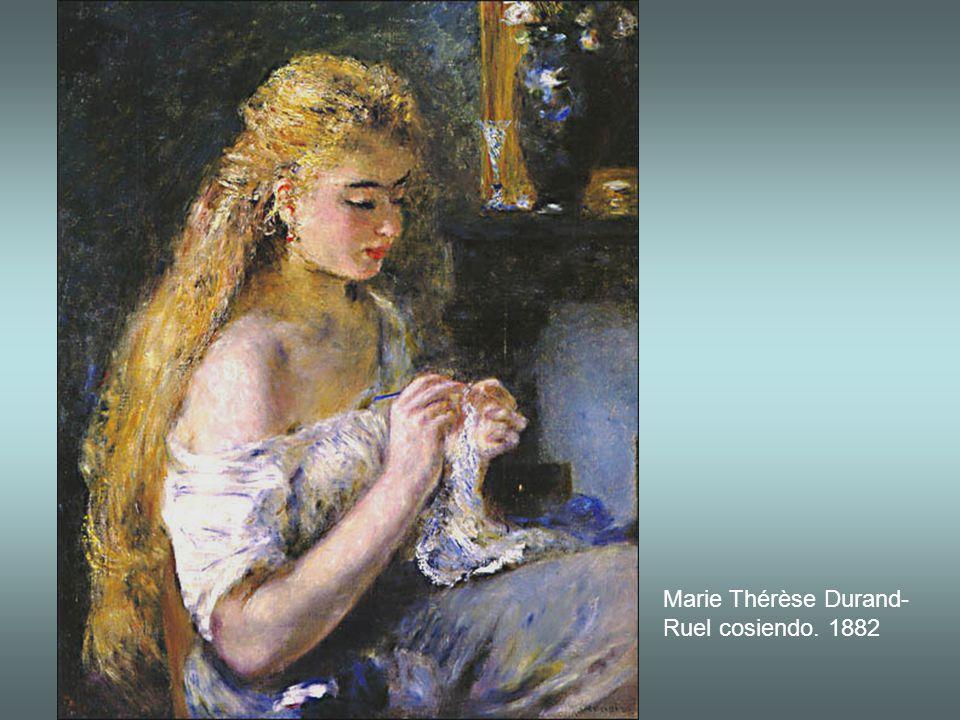 Marie Thérèse Durand-Ruel cosiendo. 1882