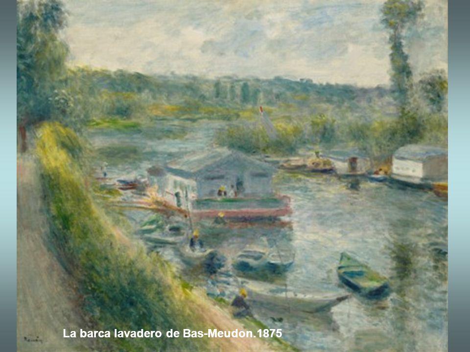La barca lavadero de Bas-Meudon.1875
