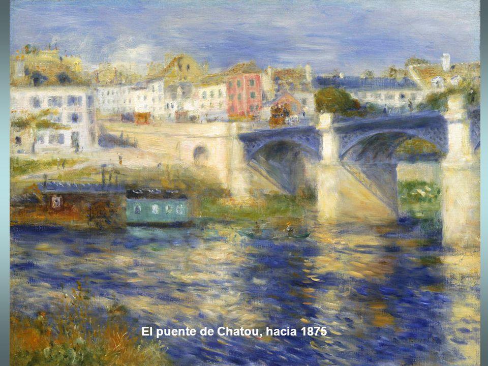 El puente de Chatou, hacia 1875