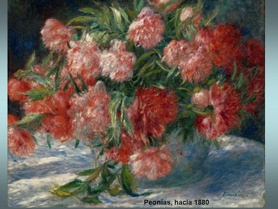 Peonías, hacia 1880