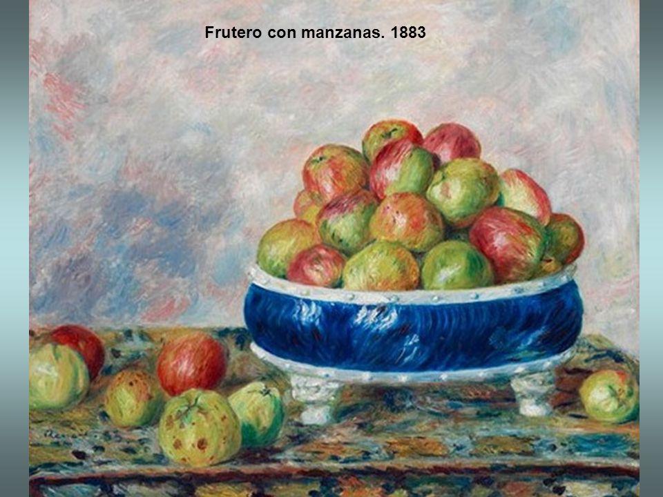 Frutero con manzanas. 1883