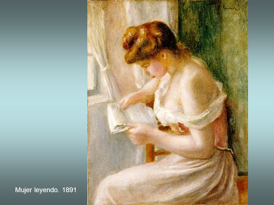 Mujer leyendo. 1891