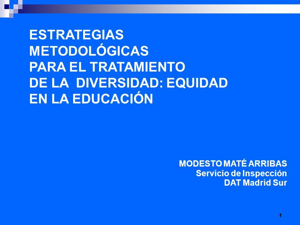 DE LA DIVERSIDAD: EQUIDAD EN LA EDUCACIÓN