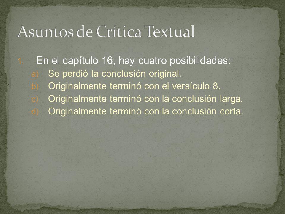 Asuntos de Crítica Textual