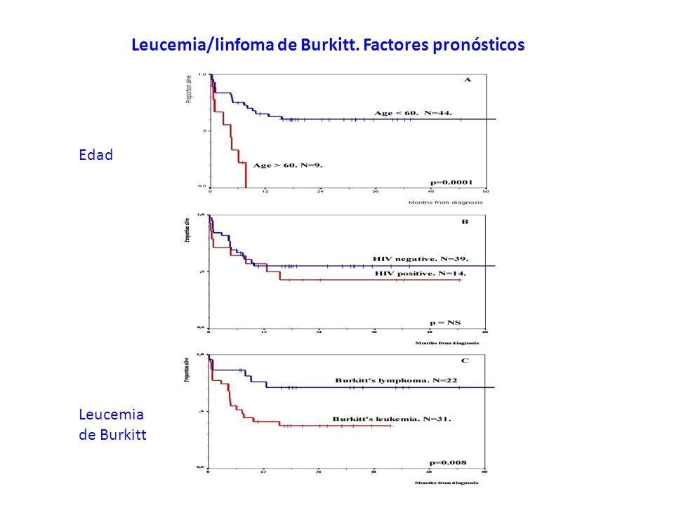 Leucemia/linfoma de Burkitt. Factores pronósticos