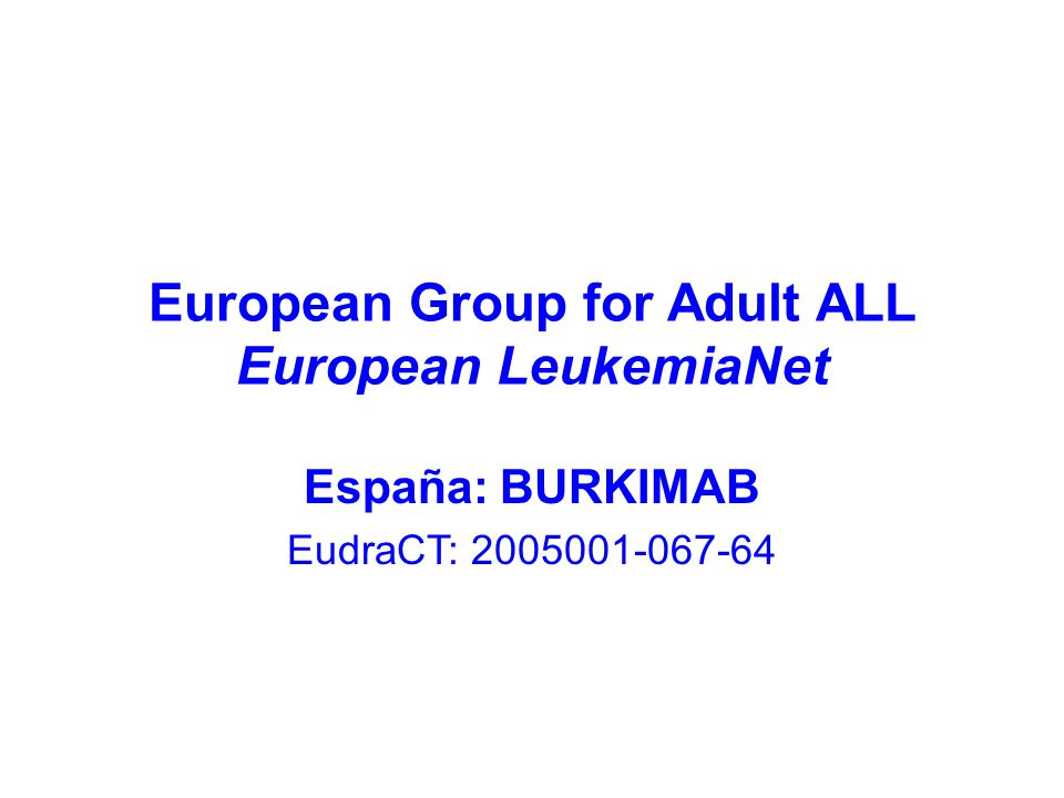 European Group for Adult ALL European LeukemiaNet