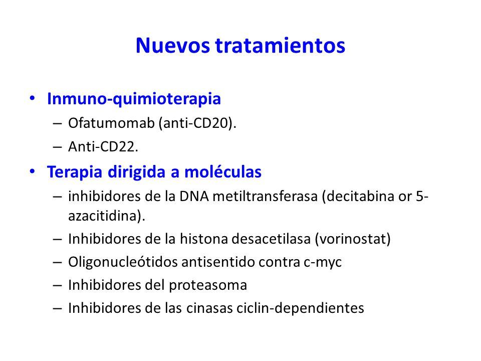 Nuevos tratamientos Inmuno-quimioterapia Terapia dirigida a moléculas