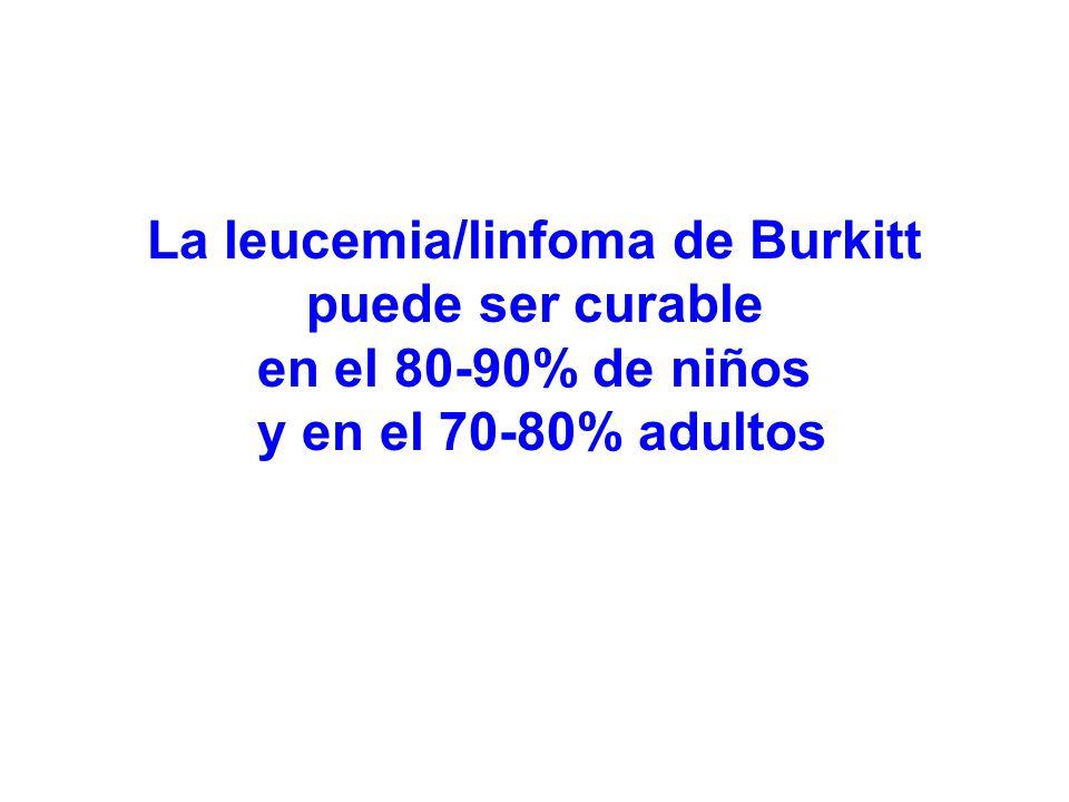 La leucemia/linfoma de Burkitt puede ser curable en el 80-90% de niños y en el 70-80% adultos