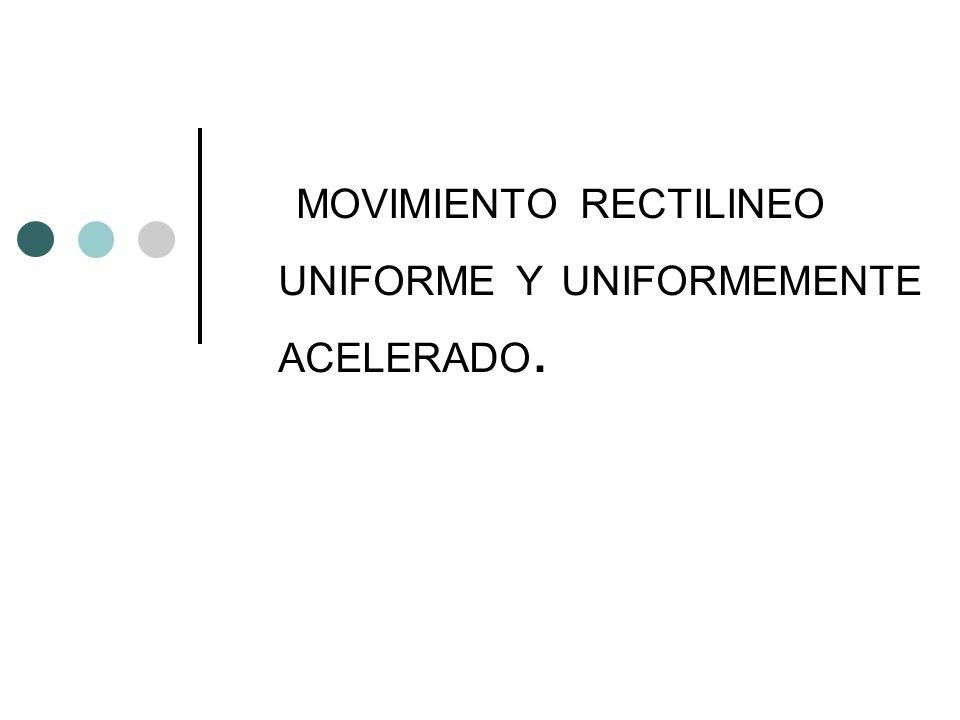 MOVIMIENTO RECTILINEO UNIFORME Y UNIFORMEMENTE ACELERADO.