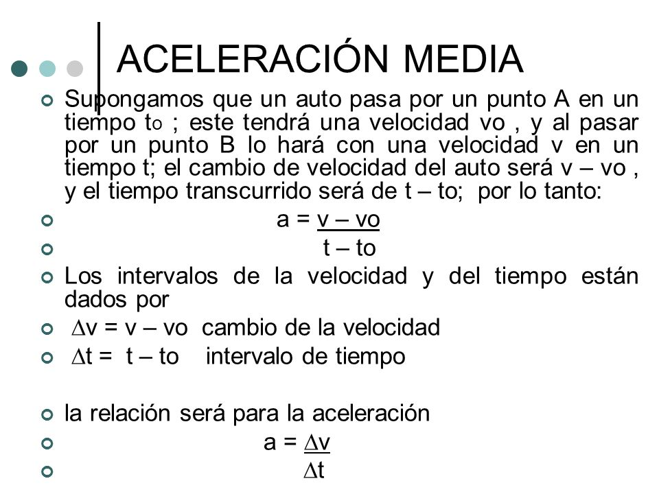 ACELERACIÓN MEDIA