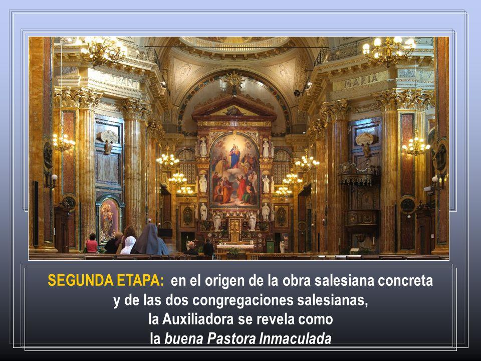 la Auxiliadora se revela como la buena Pastora Inmaculada