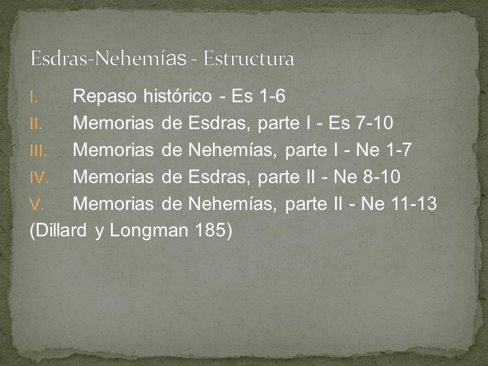 Esdras-Nehemías - Estructura