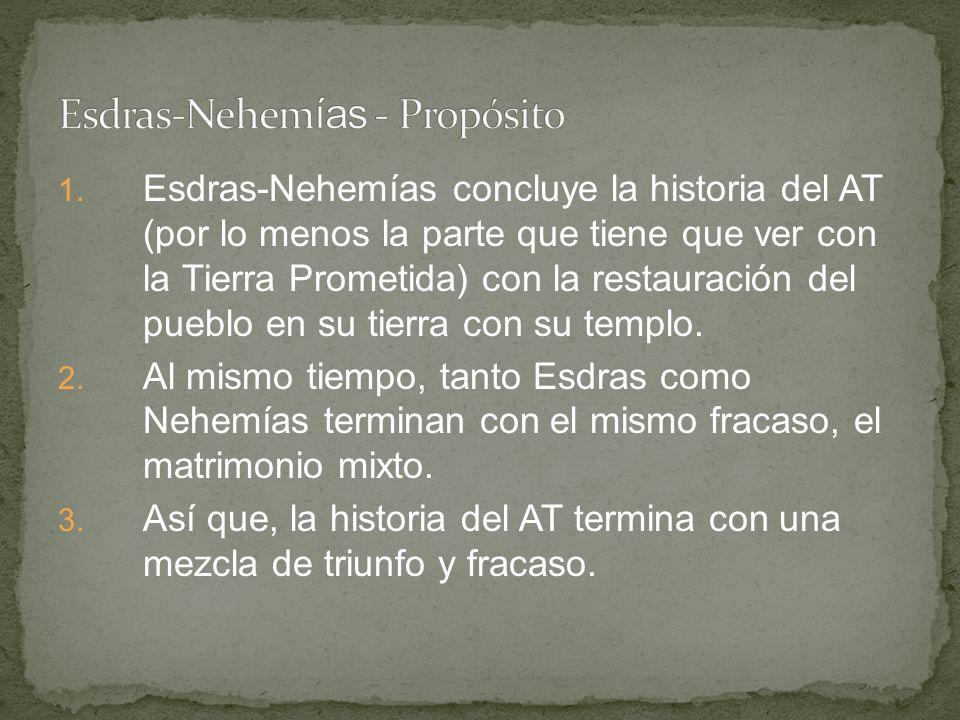 Esdras-Nehemías - Propósito
