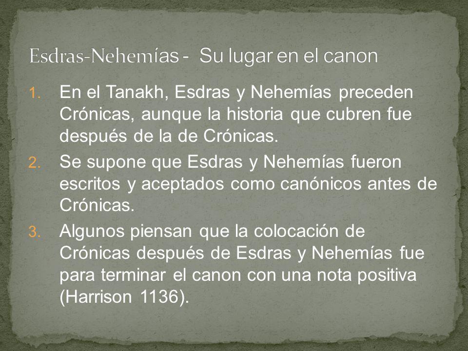 Esdras-Nehemías - Su lugar en el canon