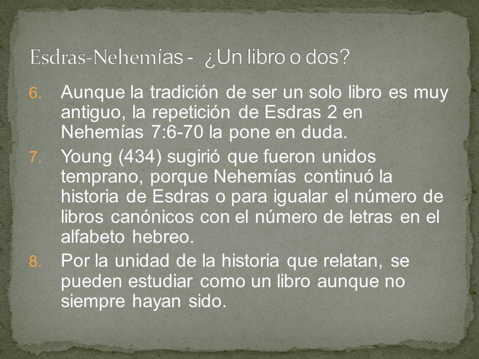 Esdras-Nehemías - ¿Un libro o dos
