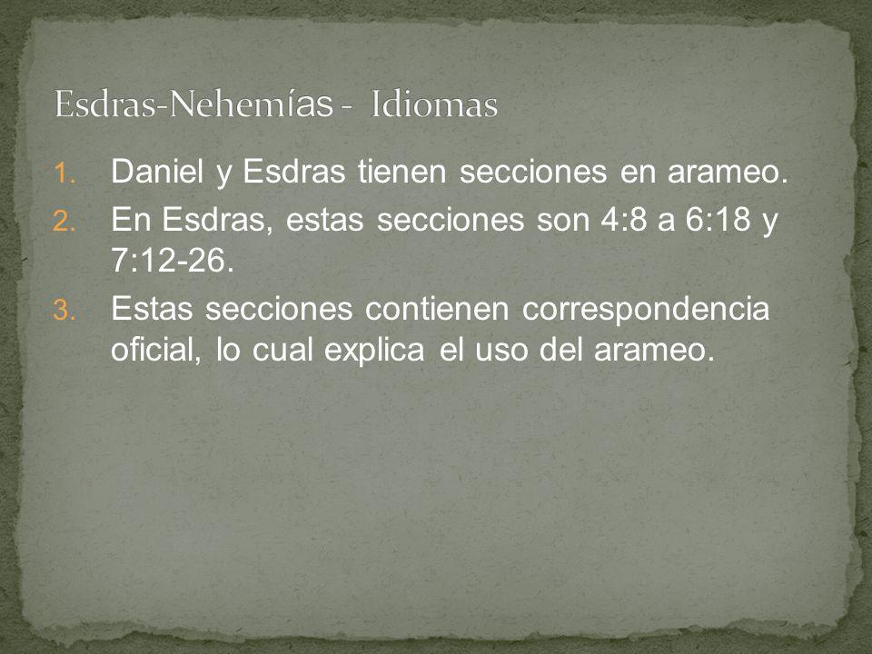 Esdras-Nehemías - Idiomas