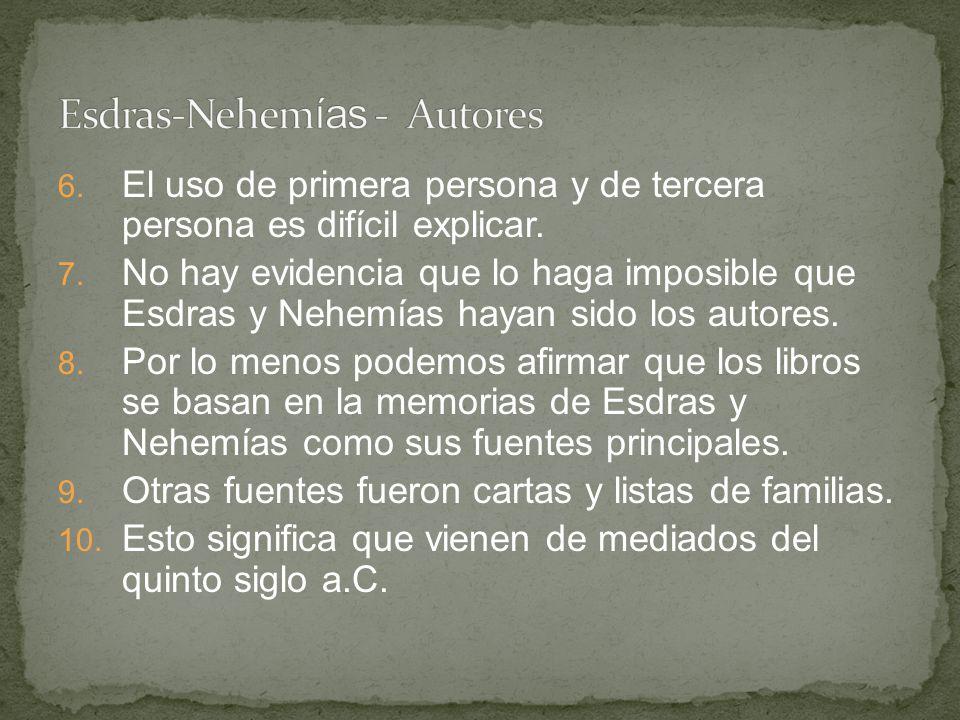Esdras-Nehemías - Autores