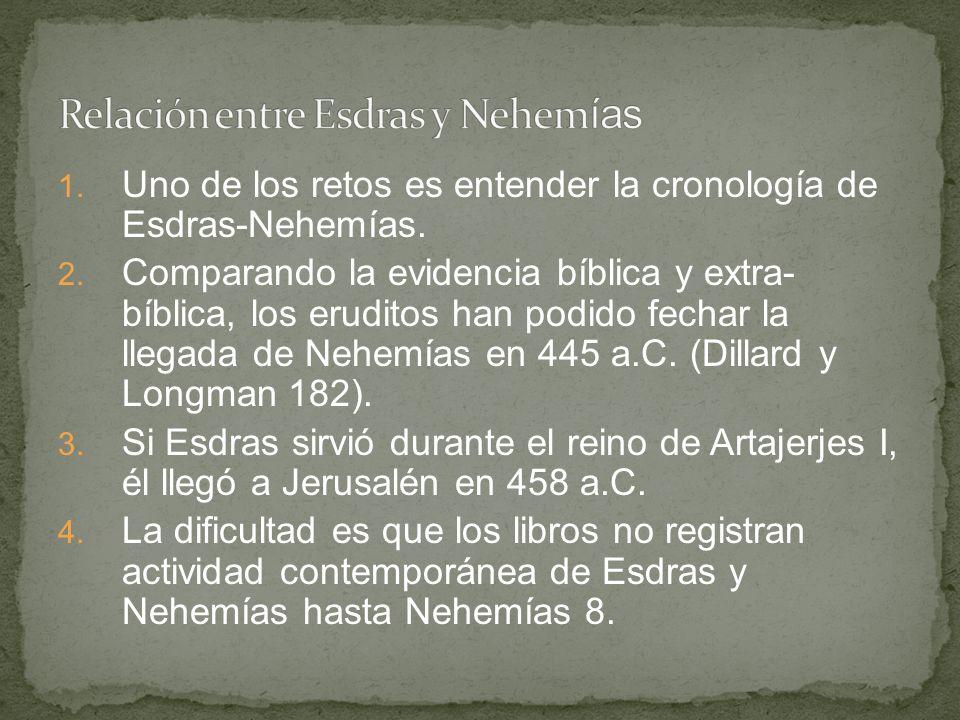 Relación entre Esdras y Nehemías