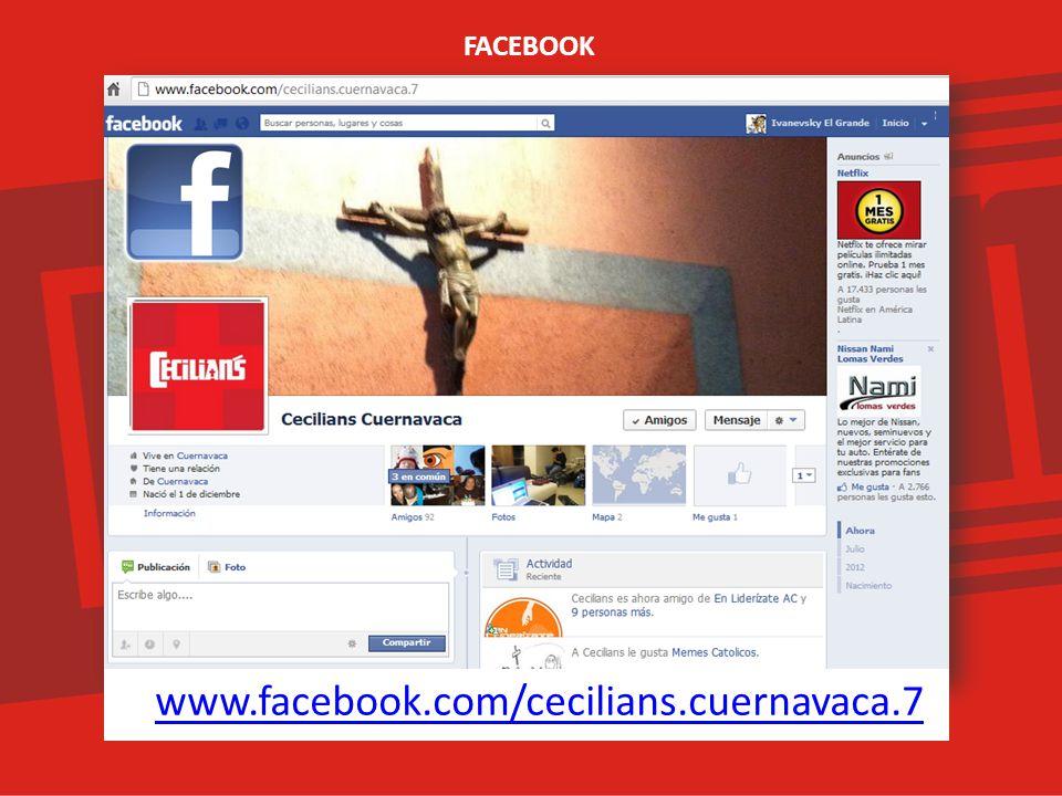 FACEBOOK www.facebook.com/cecilians.cuernavaca.7