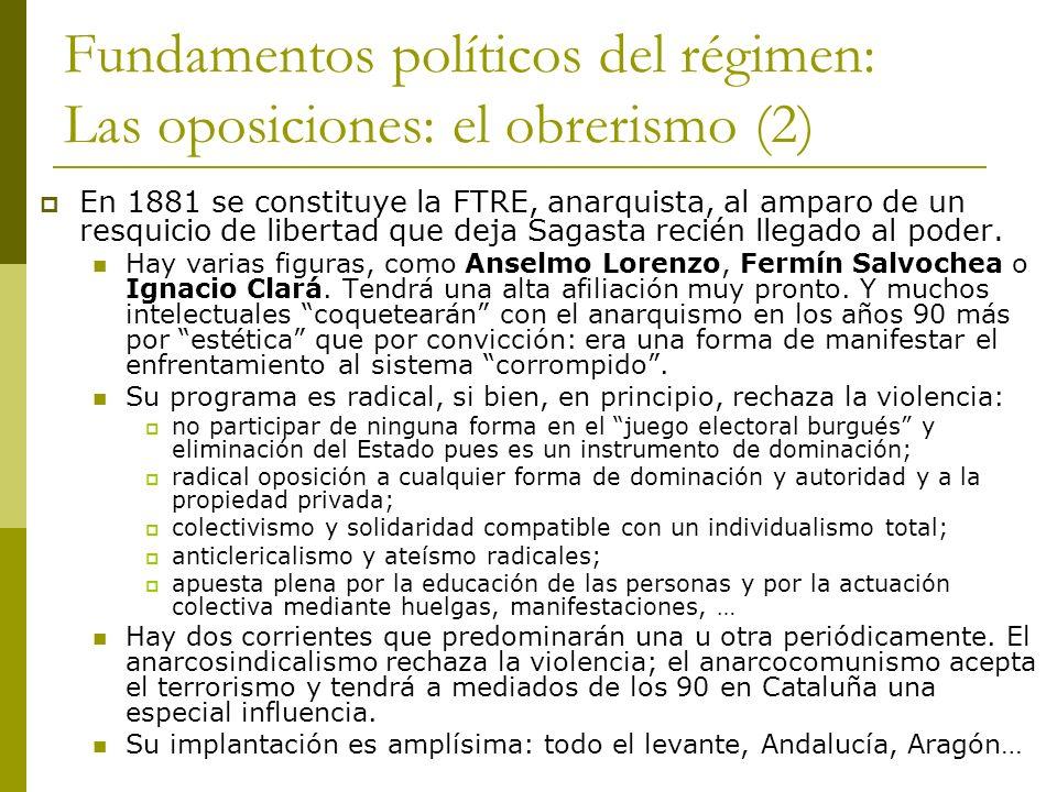 Fundamentos políticos del régimen: Las oposiciones: el obrerismo (2)