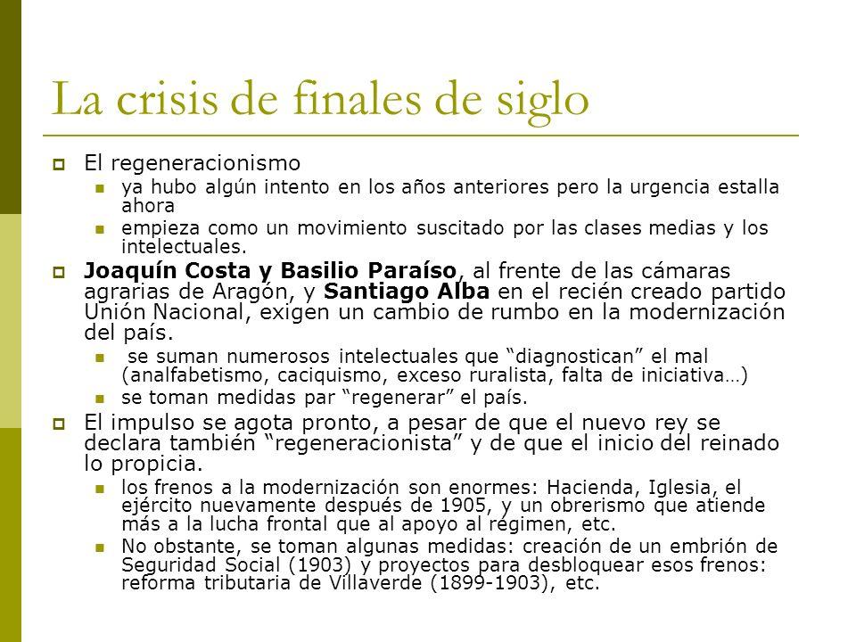 La crisis de finales de siglo