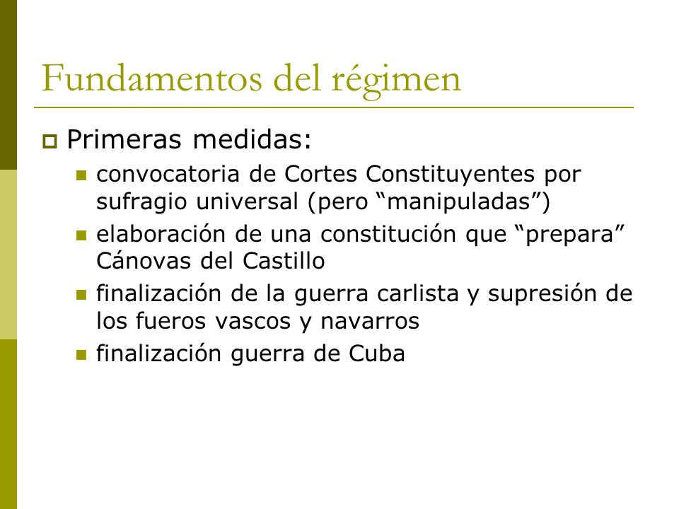 Fundamentos del régimen