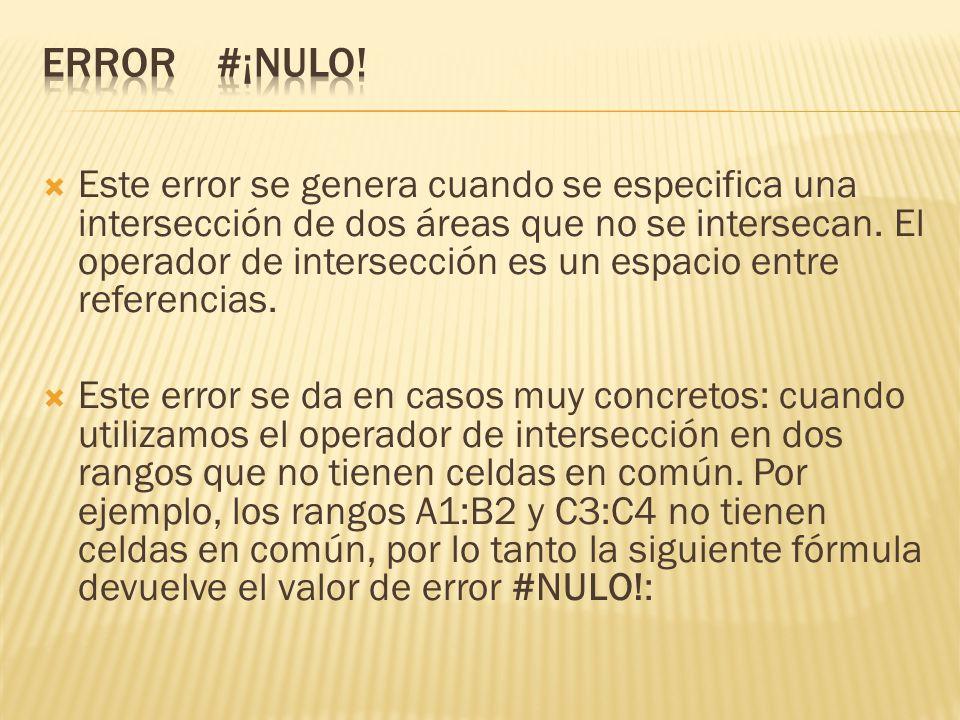 ERROR #¡NULO!