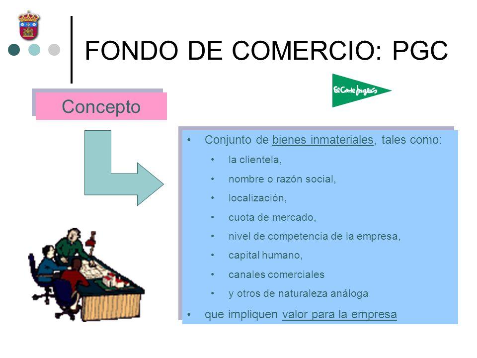 FONDO DE COMERCIO: PGC Concepto