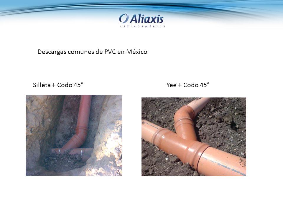 Descargas comunes de PVC en México