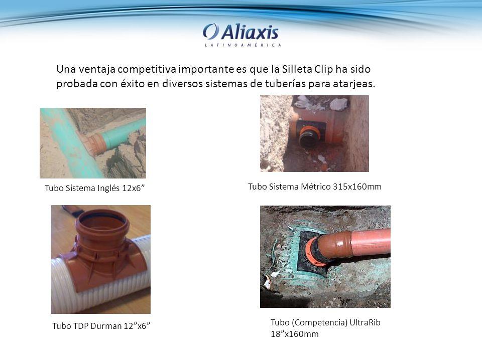 Una ventaja competitiva importante es que la Silleta Clip ha sido probada con éxito en diversos sistemas de tuberías para atarjeas.
