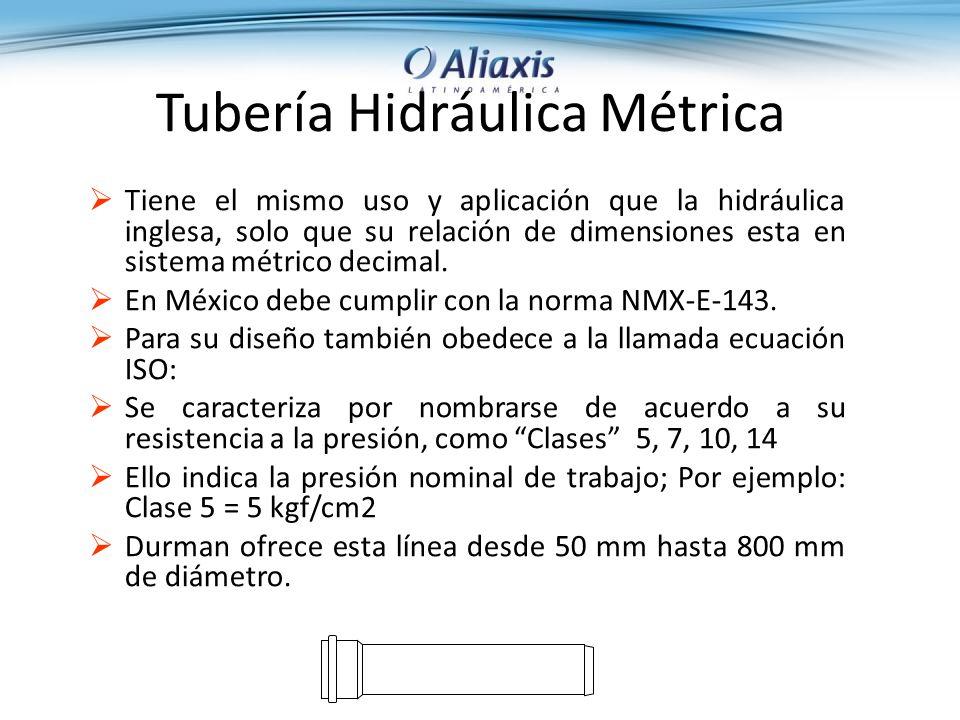 Tubería Hidráulica Métrica