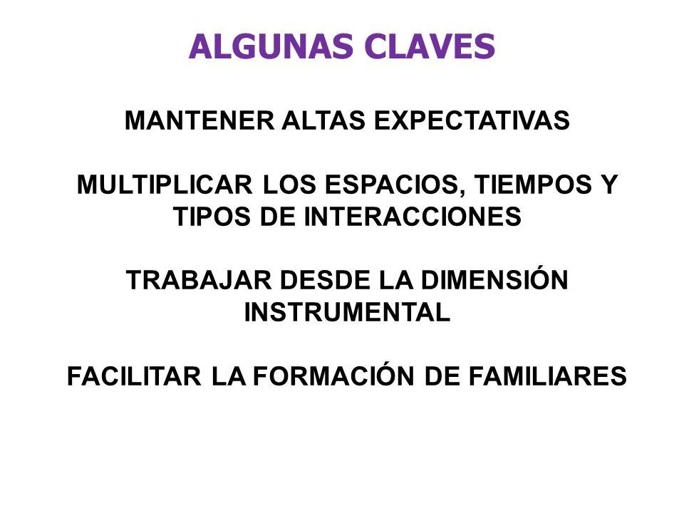 ALGUNAS CLAVES MANTENER ALTAS EXPECTATIVAS