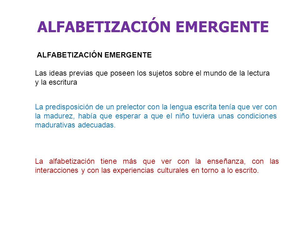 ALFABETIZACIÓN EMERGENTE