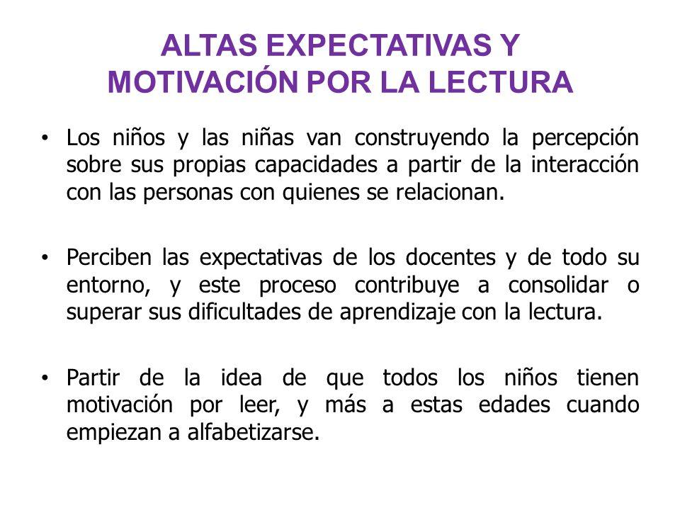 ALTAS EXPECTATIVAS Y MOTIVACIÓN POR LA LECTURA