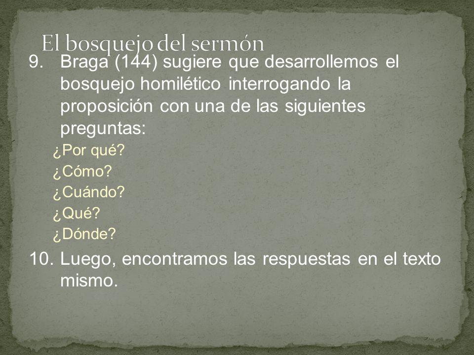 El bosquejo del sermón