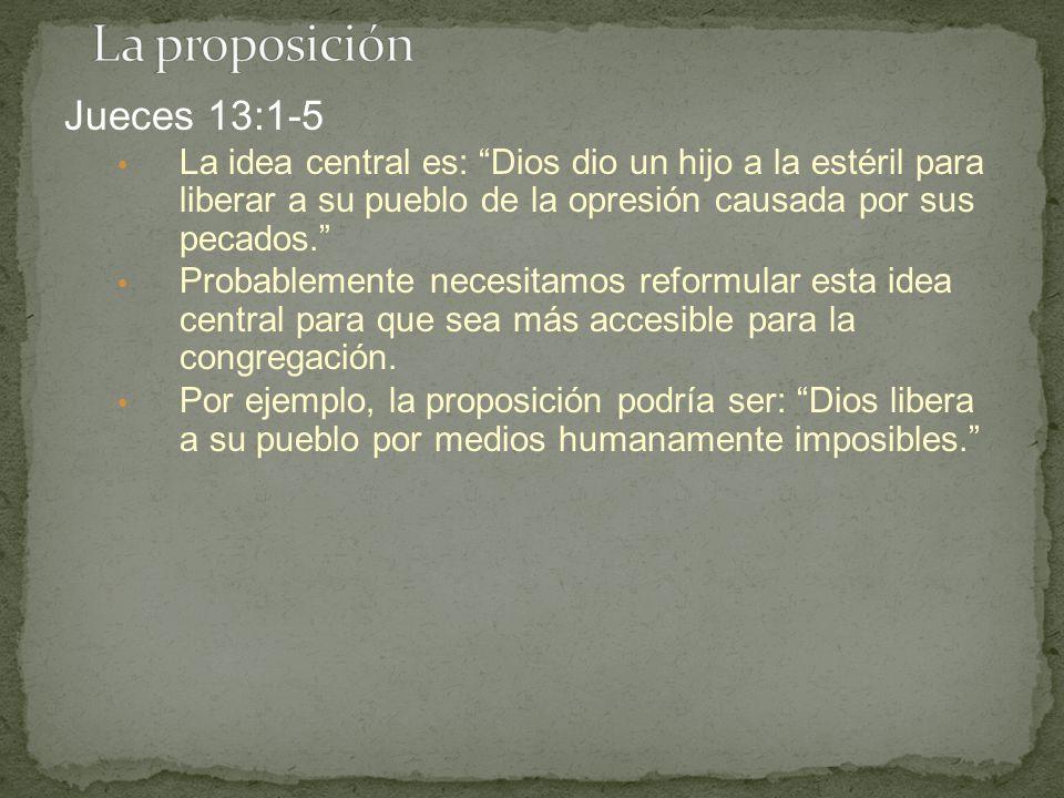 La proposición Jueces 13:1-5