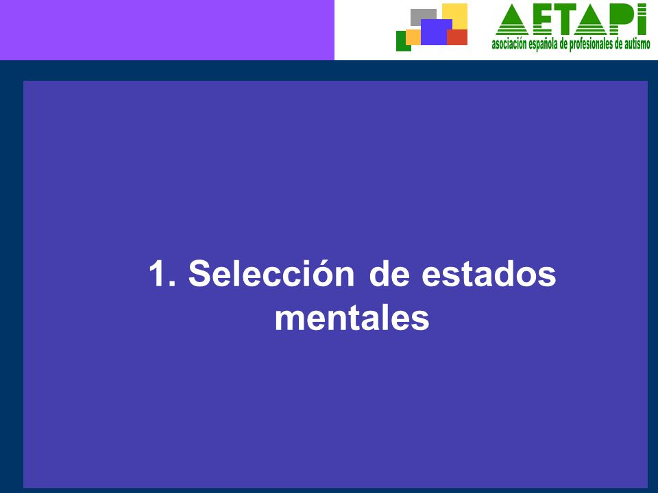 1. Selección de estados mentales