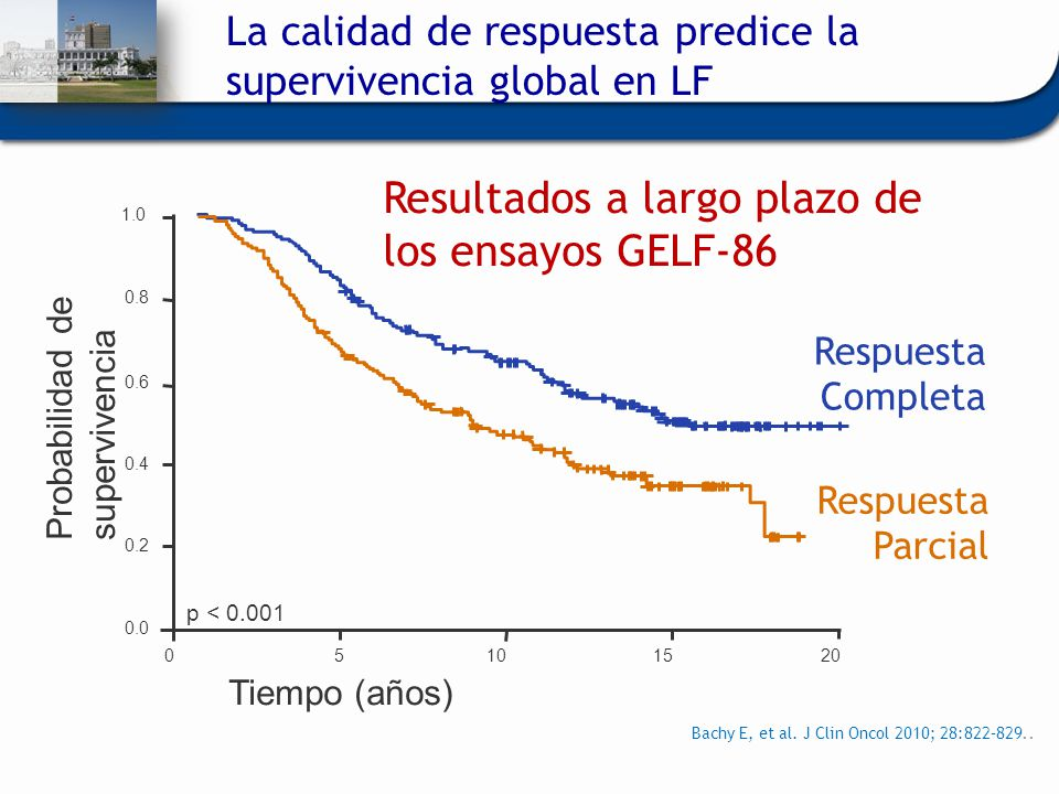Resultados a largo plazo de los ensayos GELF-86