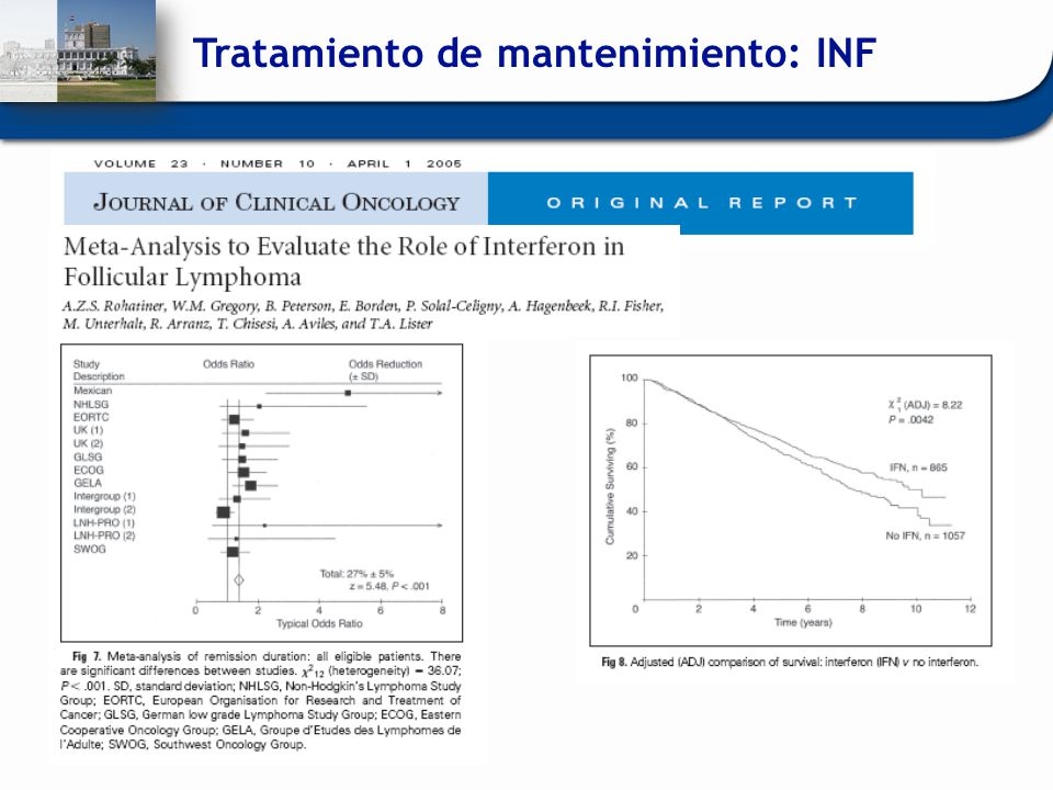 Tratamiento de mantenimiento: INF