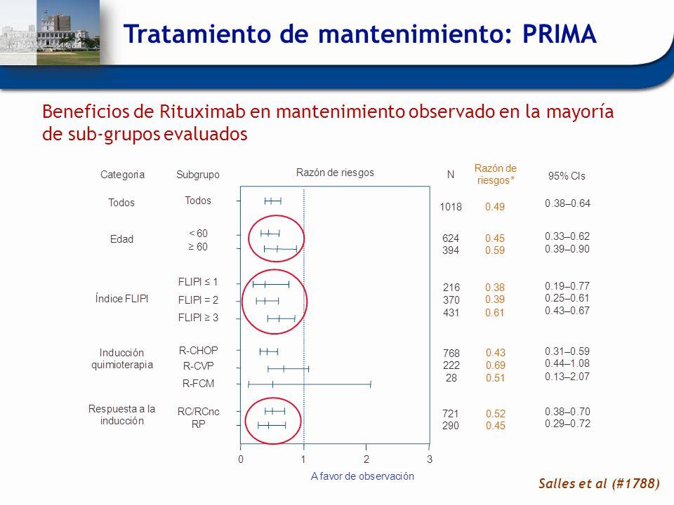 Tratamiento de mantenimiento: PRIMA