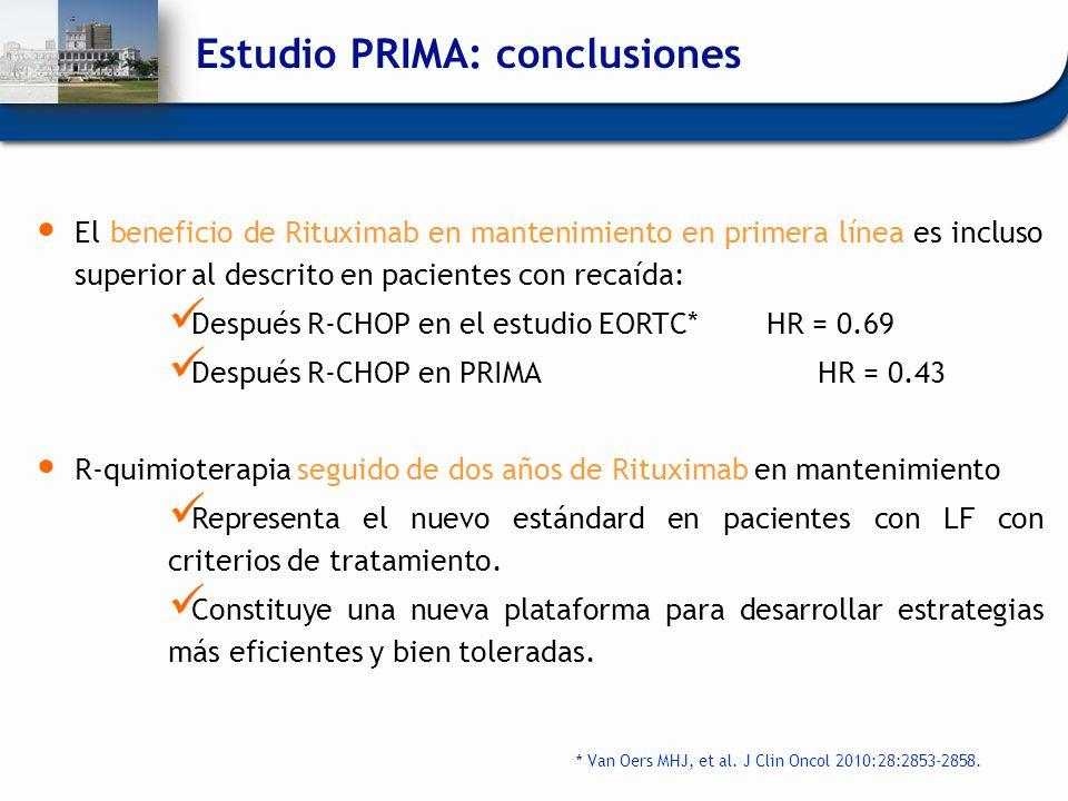 Estudio PRIMA: conclusiones