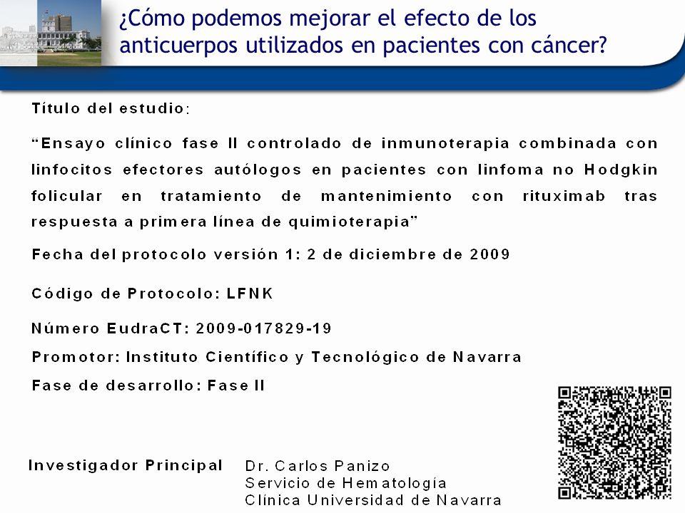 ¿Cómo podemos mejorar el efecto de los anticuerpos utilizados en pacientes con cáncer