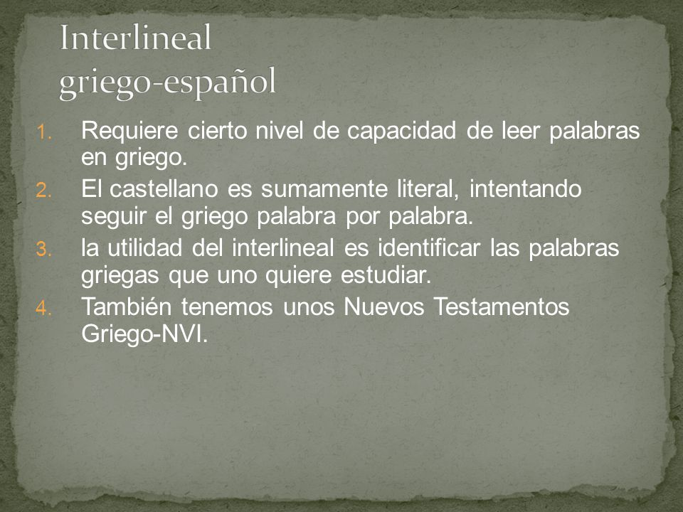 Interlineal griego-español