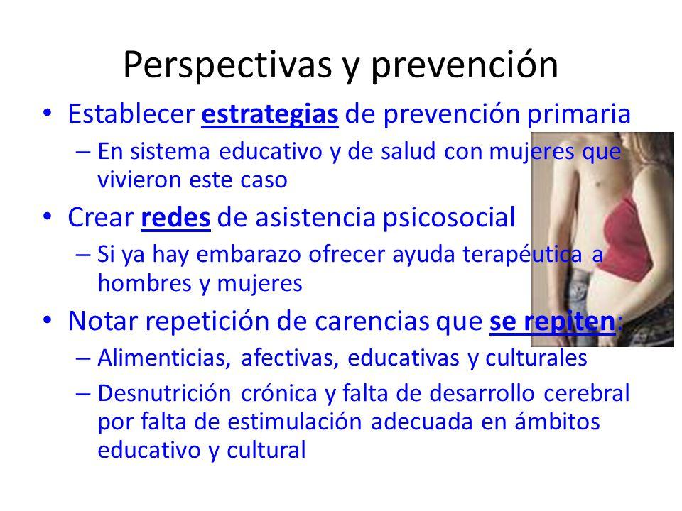 Perspectivas y prevención