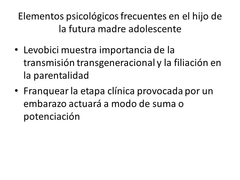 Elementos psicológicos frecuentes en el hijo de la futura madre adolescente