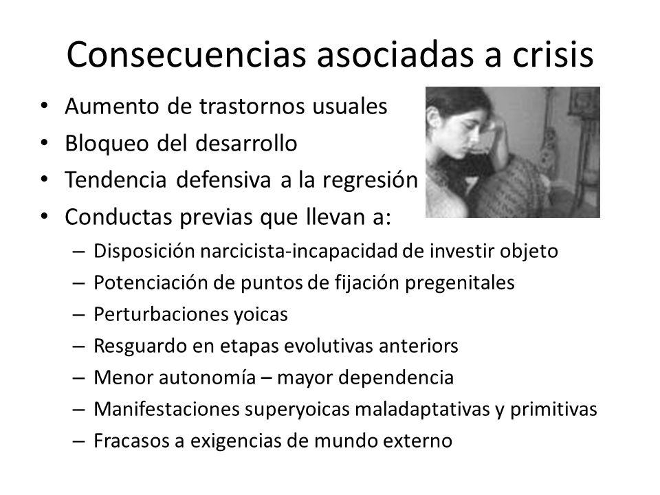 Consecuencias asociadas a crisis