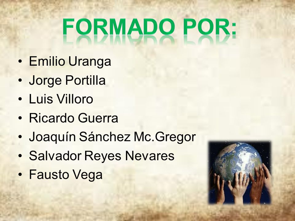 FORMADO POR: Emilio Uranga Jorge Portilla Luis Villoro Ricardo Guerra